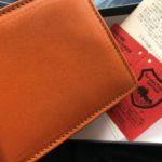 栃木レザーを使った二つ折り財布を通販で買ってみた
